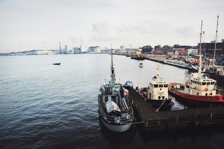 fishing boats in Aalborg, Denmark