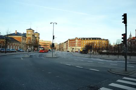 Danish architecture. Aalborg city.