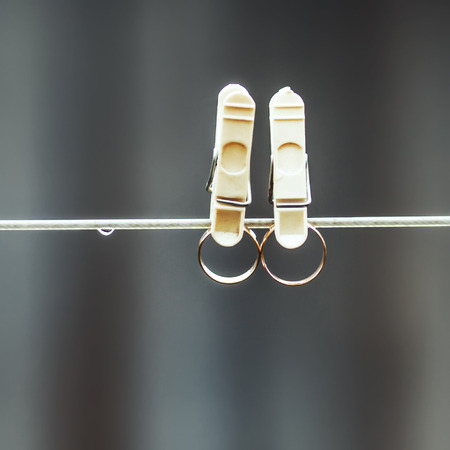 clothespeg: wedding rings  in clothes-peg