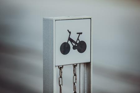 Bicycle sign at street of Copenhagen