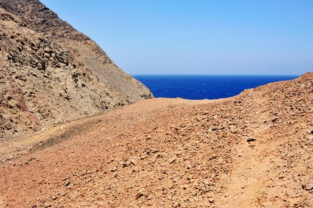 Red Sea coastline in Dahab, Egypt Stock Photo