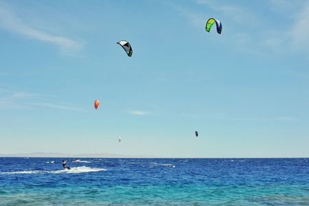 feel of freedom, riding on kite surf board on Red Sea, Dahab