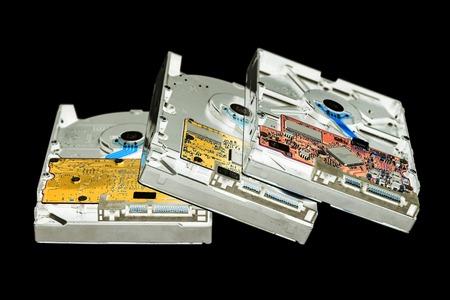 diskdrive: Hard disk drives, HDD in negative film effect