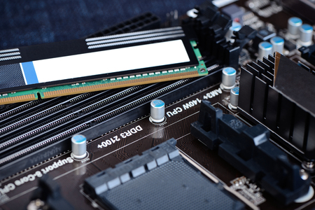 ddr3: DDR3 memory on a motherboard ready for upgrade