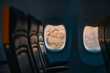The airplane approaching Copenhagen airport.