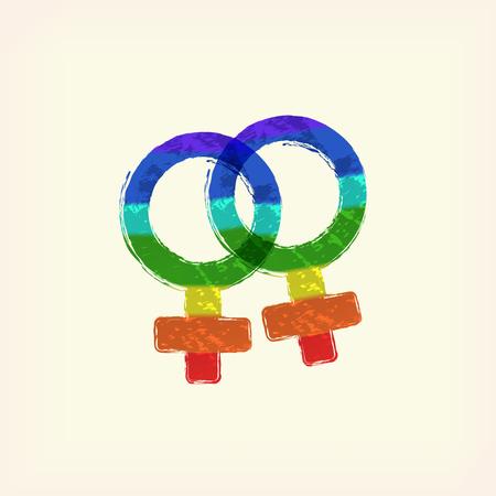 Lesbian logo for LGBT design purposes