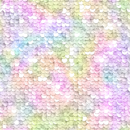 Sequins sparkling background. Rainbow multicolored. Seamless pattern. Vector illustration. Vettoriali