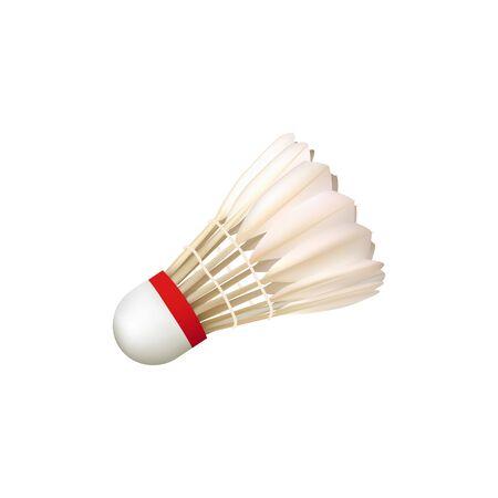 Realistic shuttlecock. Badminton, birdie element. Vector illustration. Ilustrace