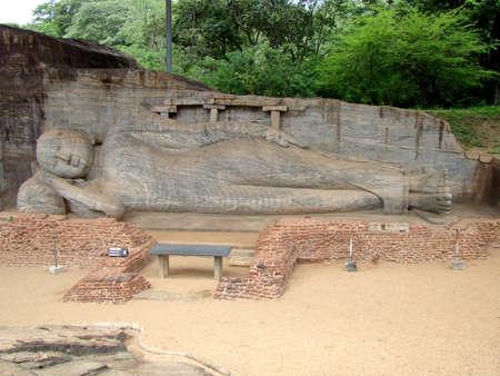 SRI LANKA, POLONNARUWA, GAL VIHARA. Фото со стока
