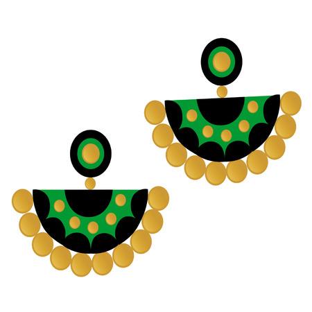 Indian Jhumka Earring Vector illustration.