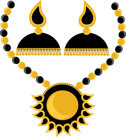 Indian Jhumka Earring vector illustration