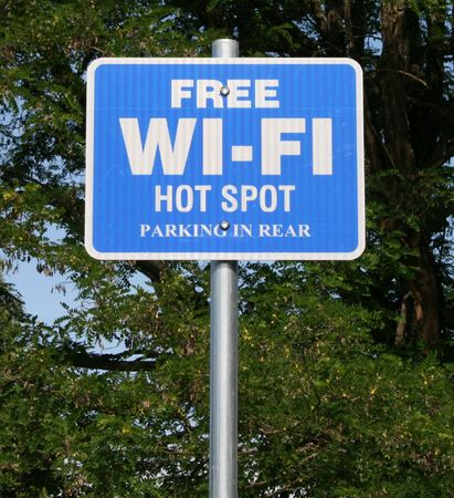 hot spot: wi-fi hot spot Stock Photo