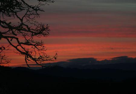 Red Sky at Night 版權商用圖片