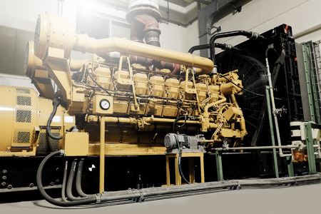 This standby diesel generator unit in petrochemical industry.