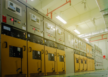 Electric substation room in petrochemical plant