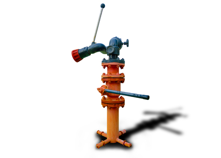Isolated of fire hydrant on white background with clipping path Stock Photo