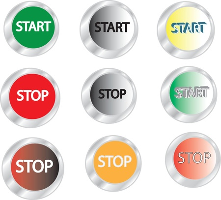 buttons Stock Vector - 12470908