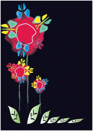 stylized flowers Illustration