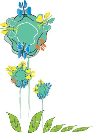 gestileerde bloemen Stock Illustratie