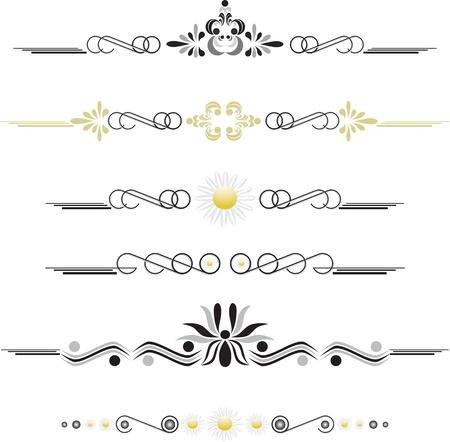 Vintage adornos decorativos (eps10)