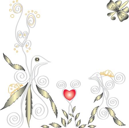 fantasie bloemen achtergrond (eps10) Stock Illustratie