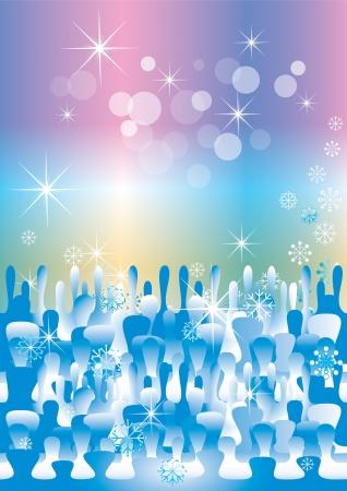 invierno fantas�a de fondo (eps10) Ilustraci�n