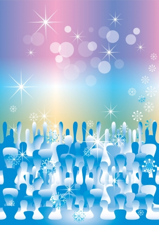 winter fantasy background(eps10) Vector