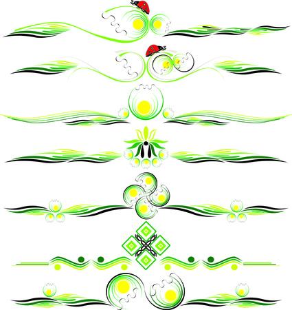Decorative vector multicolor design ornamanets