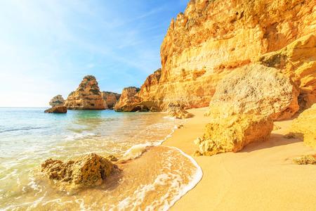 rocha: A view of a Praia da Rocha in Portimao, Algarve region, Portugal Stock Photo