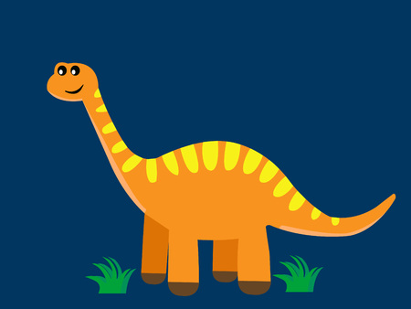 Cartoon dinosaur vector design.Easy customization. Illustration