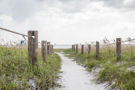 Beautiful trail to americas # 1 beach in siesta key Stock fotó