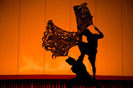 Shadow Puppet Drama, thailand Stock Photo - 6913903