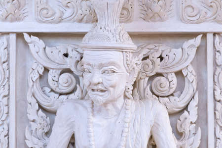 Ascetic in Thai style molding art photo