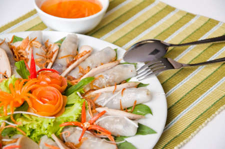 minted: Vietnamese minted pork spring roll.