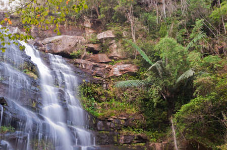 Waterfall located in deep forest at Phu Kradung national park, Loei province, Thailand. photo