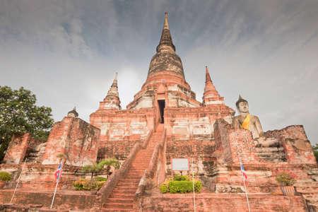 yai: Wat Yai Chai Mongkol in Ayutthaya, Thailandia