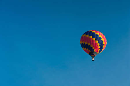 Hot air balloon and blue sky. Stock Photo - 12006504