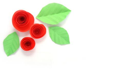 papier couleur: roses en papier de couleur Banque d'images
