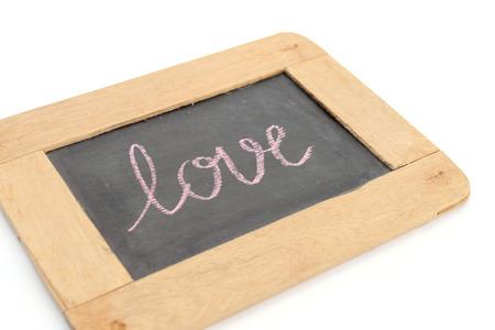 cherishing: show what you feel on old style chalkboard
