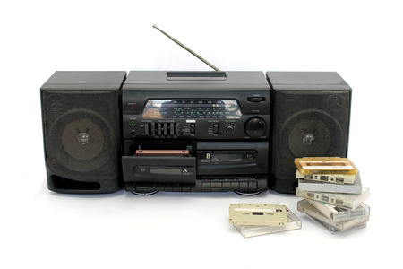 20 years old: 20 years old cassette player with black color