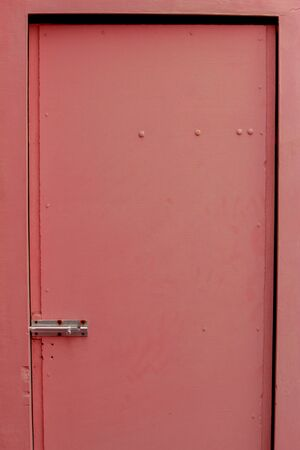 View of isolated rose colour door
