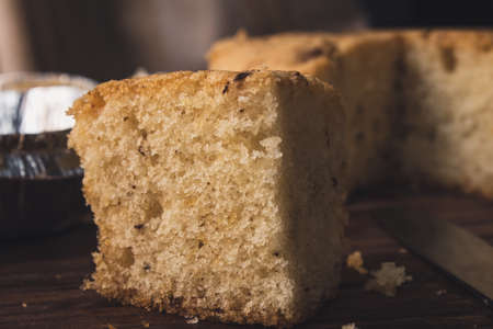 View of fresh and delicious homemade walnut cake Reklamní fotografie