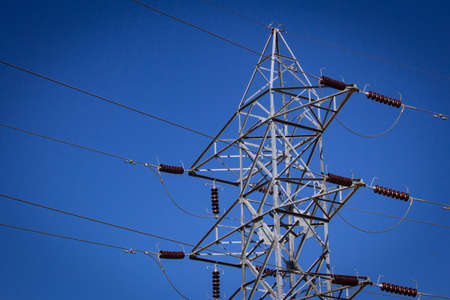 High voltage electricity poles used for power transmission