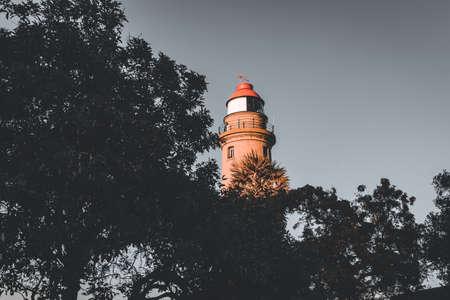 View of lighthouse, Mahabalipuram, Tamil Nadu, India. Mahabalipuram is a town near Chennai famous for rock monuments Reklamní fotografie