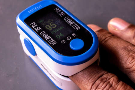 Pulse oximeter device used to measure blood oxygen saturation along with heart rate. O2 Monitor Finger for Oxygen Reklamní fotografie