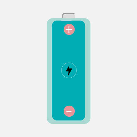 Vector image of batteries with plus and minus signs. Use for AAA or AA size battery or cell usage