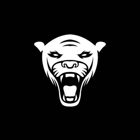 Panther logo mascot design illustration sport isolated logotype emblem