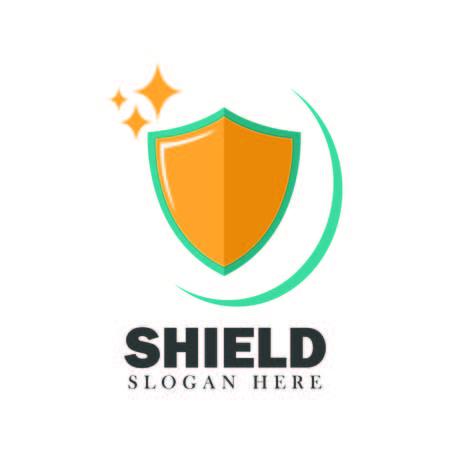 Shield vector security design element emblem illustration concept modern background on white Illustration