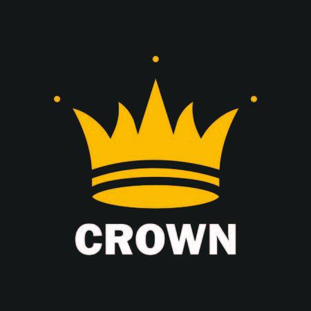 Crown royal king vector logo design abstract emblem premium gold illustration isolated