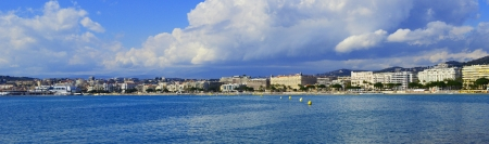 maritimes: Cannes panorama Stock Photo